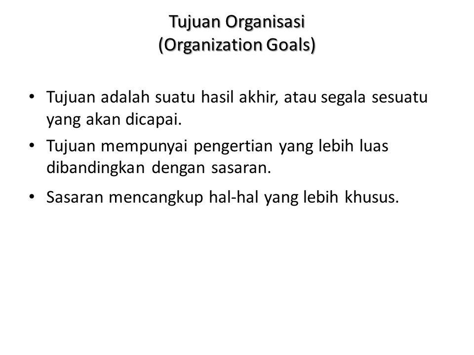 Tujuan Organisasi (Organization Goals)