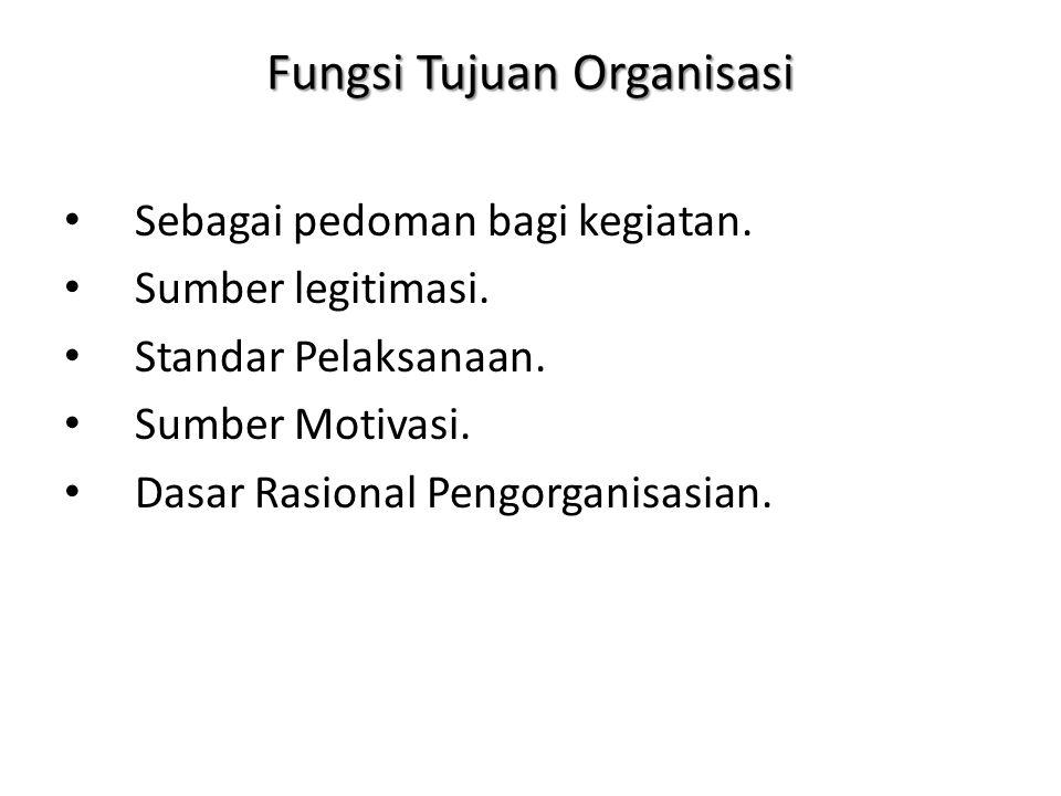 Fungsi Tujuan Organisasi