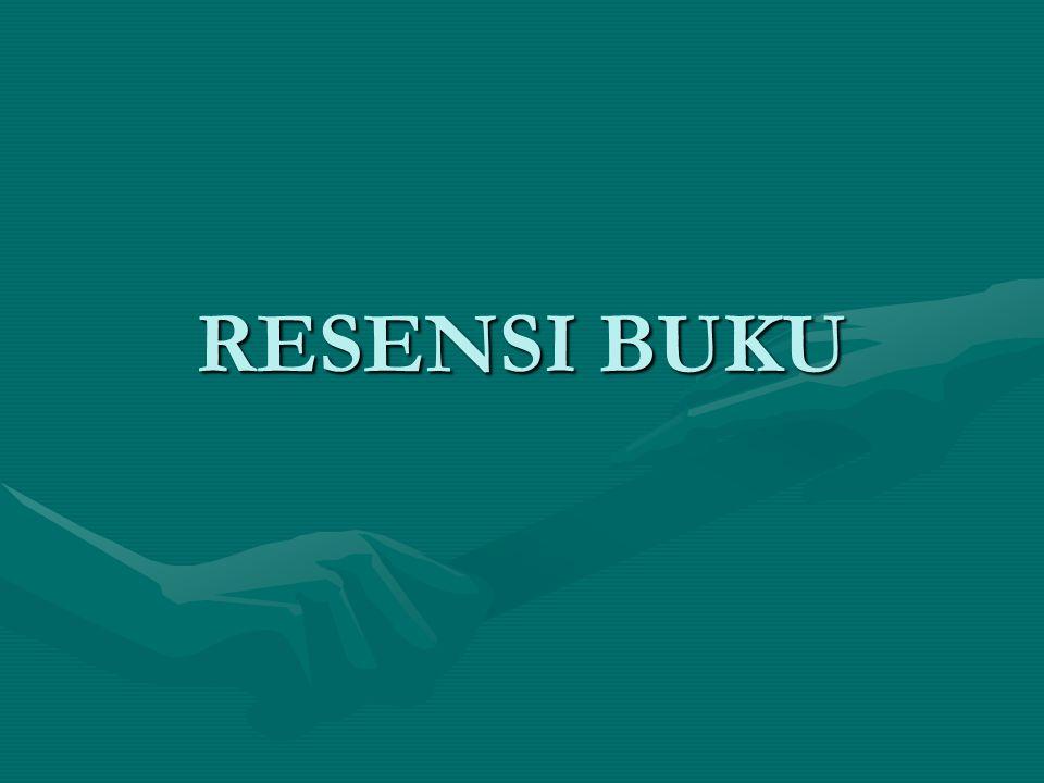 RESENSI BUKU