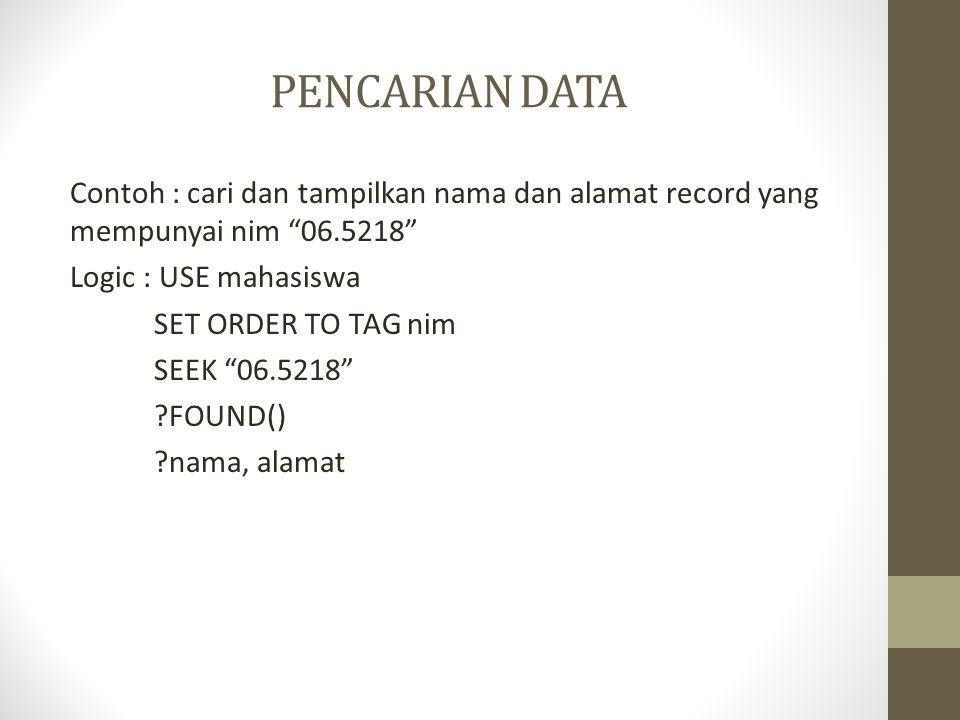PENCARIAN DATA