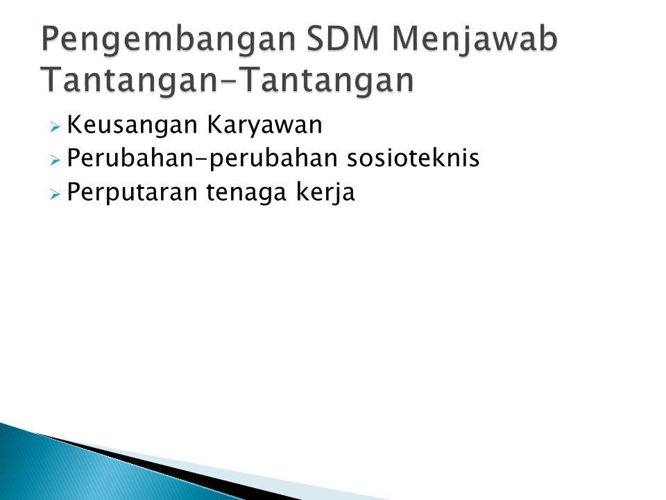 Pengembangan SDM Menjawab Tantangan-Tantangan