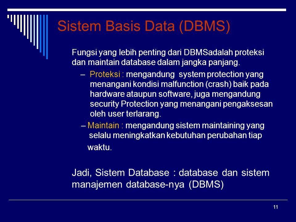 Sistem Basis Data (DBMS)
