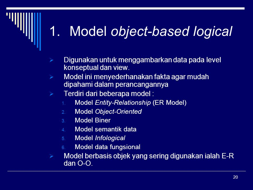 Model object-based logical