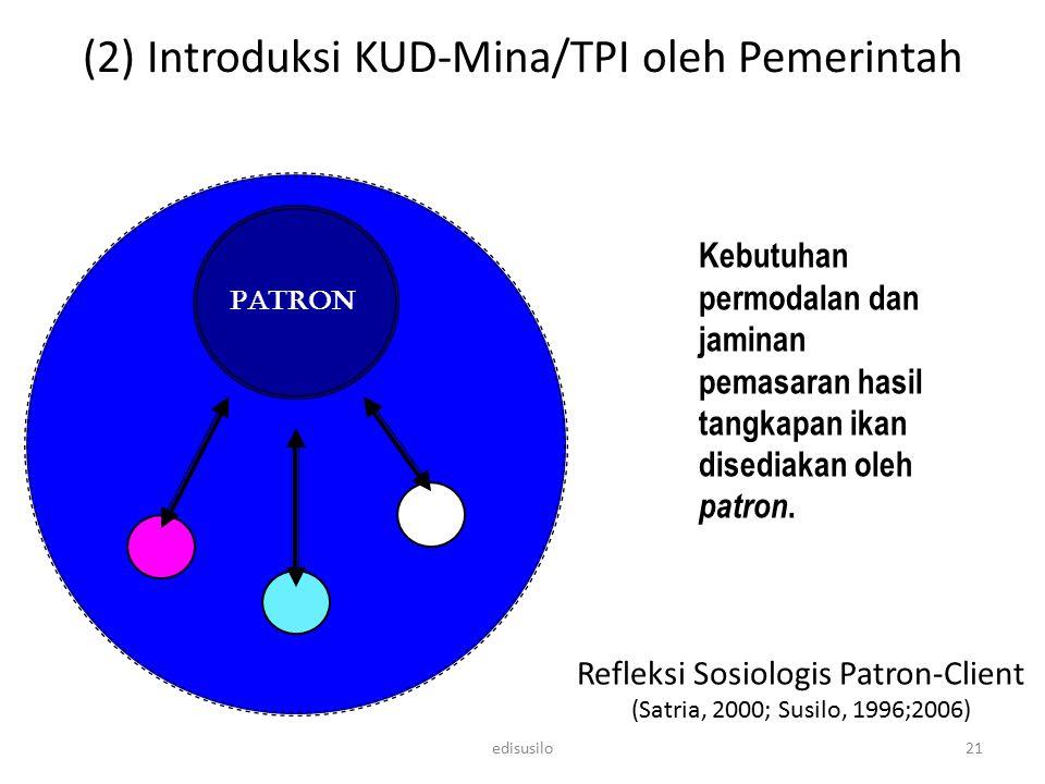 Refleksi Sosiologis Patron-Client (Satria, 2000; Susilo, 1996;2006)