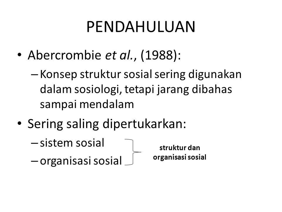 struktur dan organisasi sosial