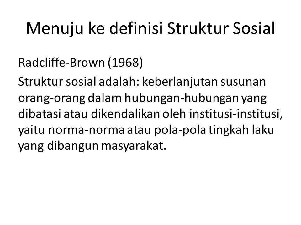 Menuju ke definisi Struktur Sosial