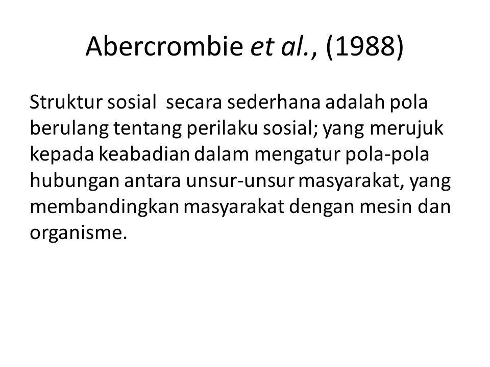Abercrombie et al., (1988)