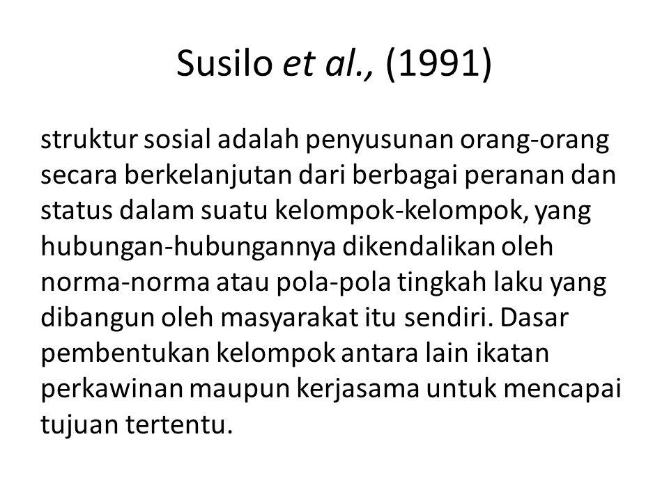 Susilo et al., (1991)