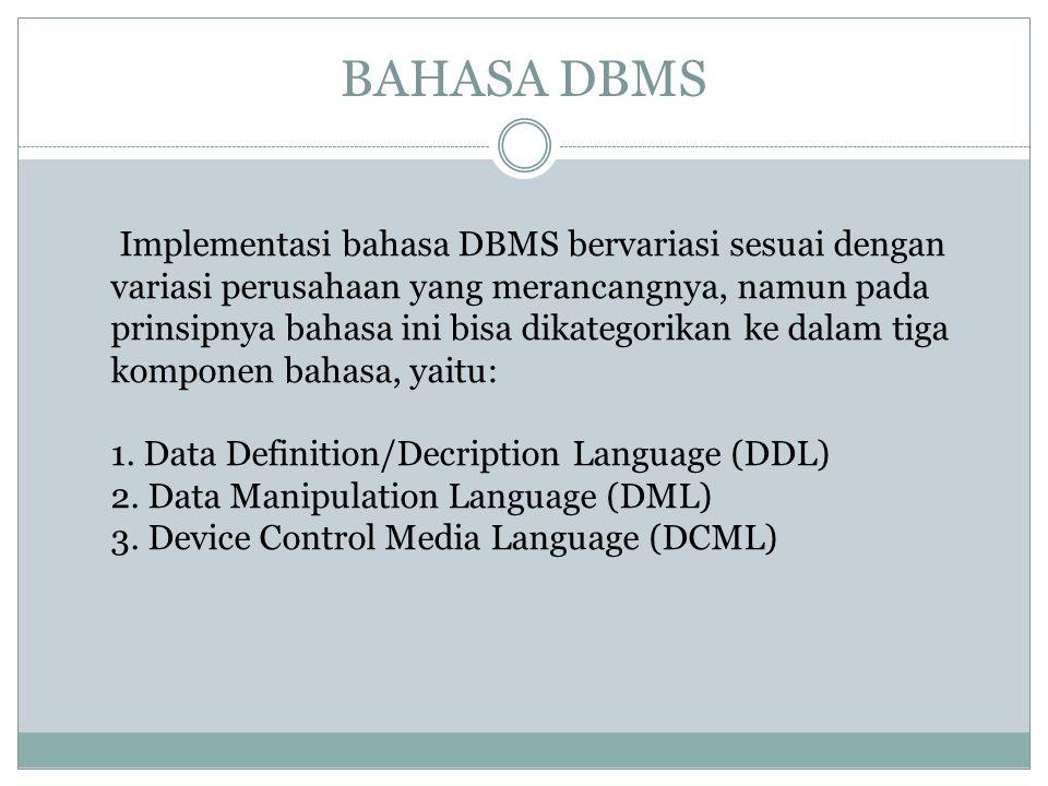 BAHASA DBMS