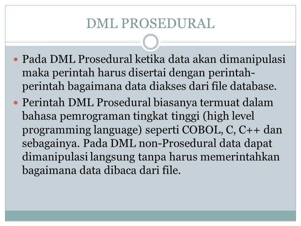 DML PROSEDURAL