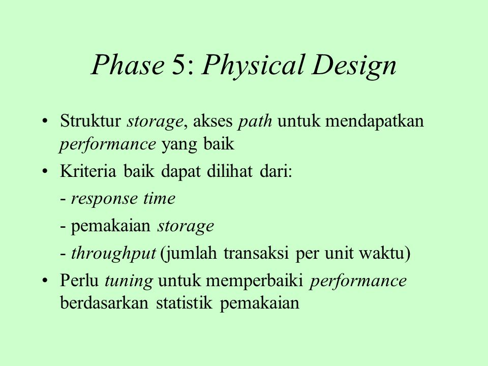 Phase 5: Physical Design