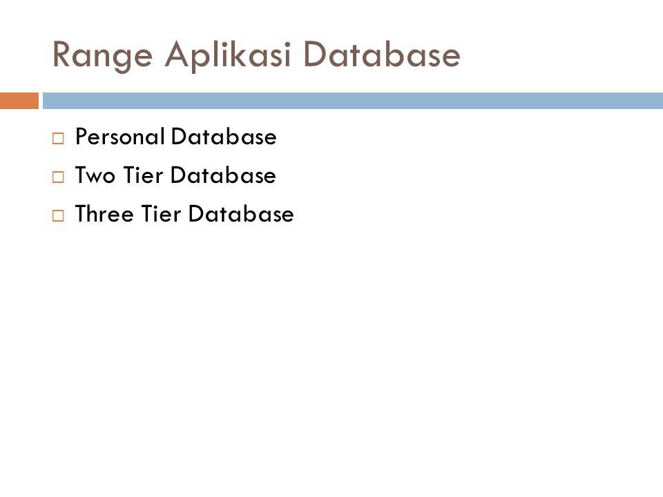 Range Aplikasi Database