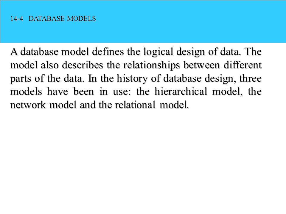 14-4 DATABASE MODELS