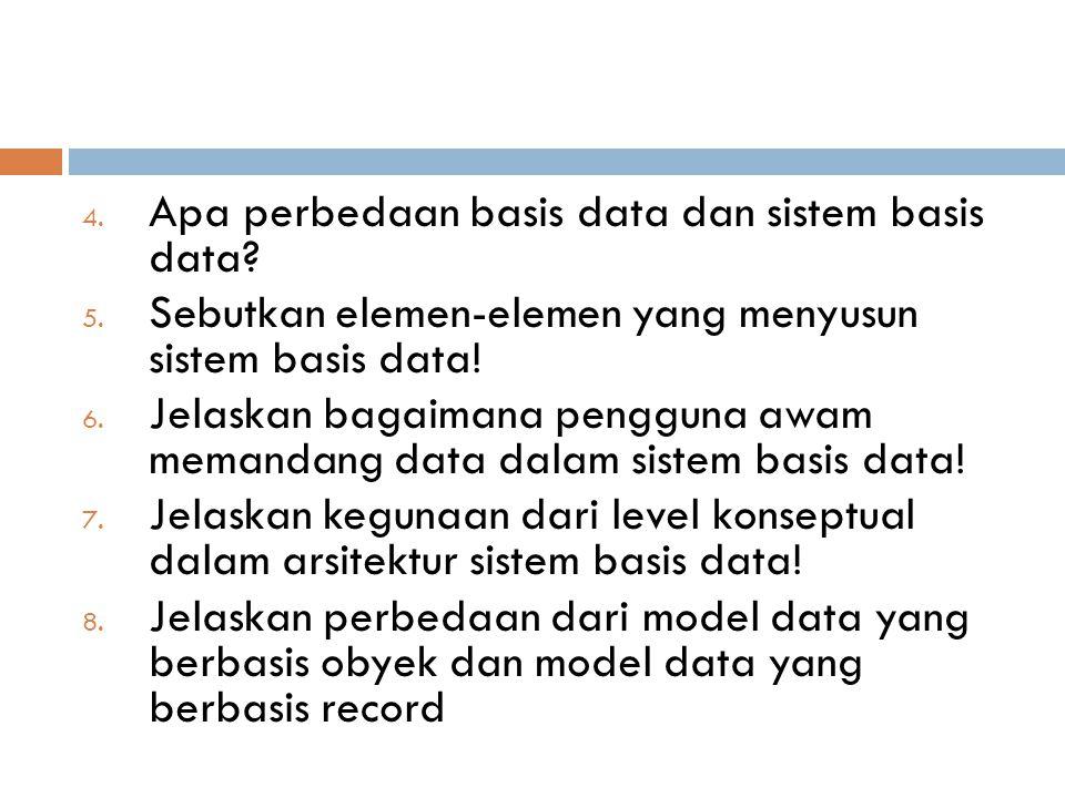 Apa perbedaan basis data dan sistem basis data