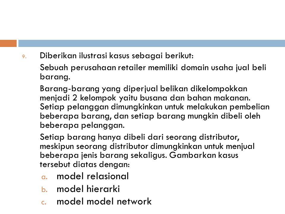 model relasional model hierarki model model network