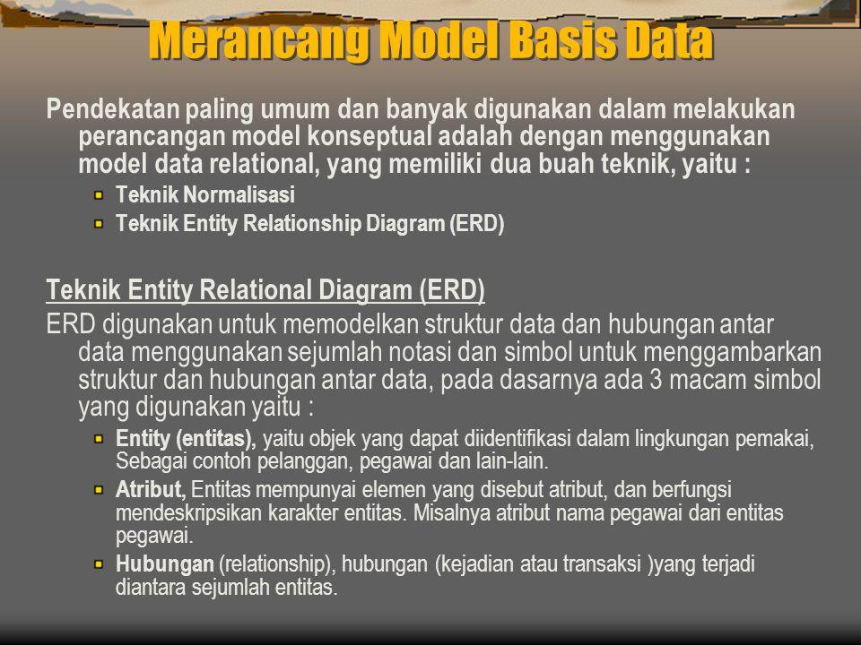 Merancang Model Basis Data