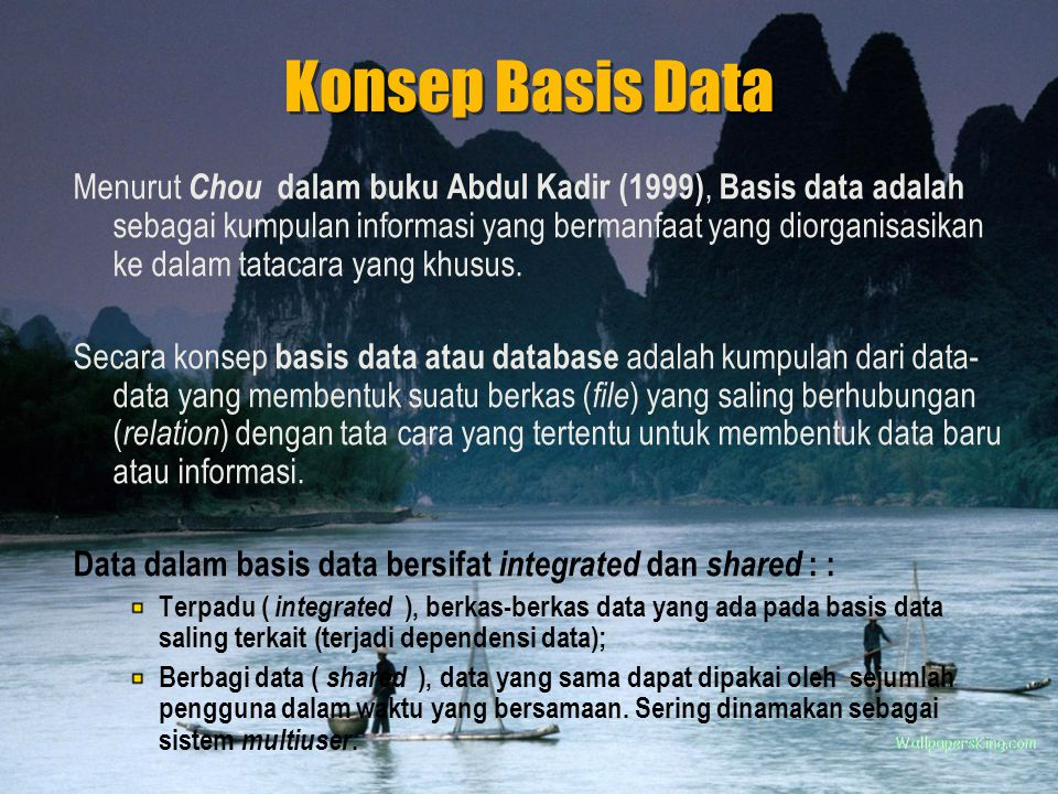 Konsep Basis Data