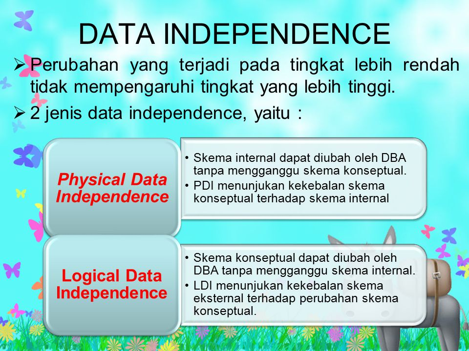 Physical Data Independence Logical Data Independence