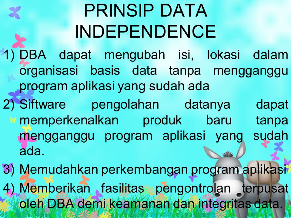 PRINSIP DATA INDEPENDENCE