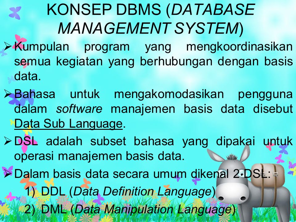 KONSEP DBMS (DATABASE MANAGEMENT SYSTEM)