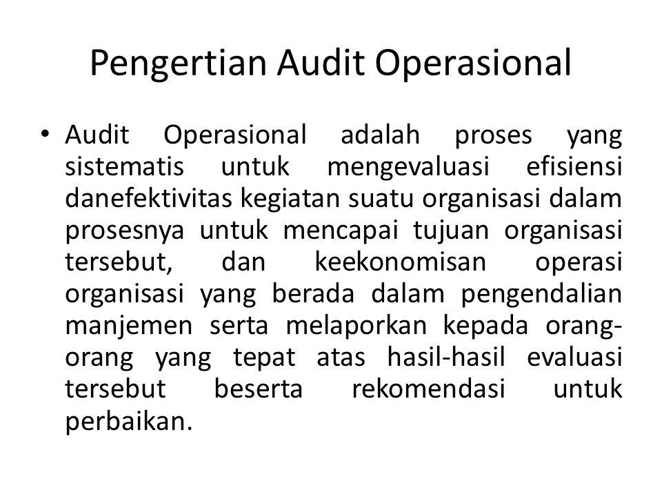 Pengertian Audit Operasional