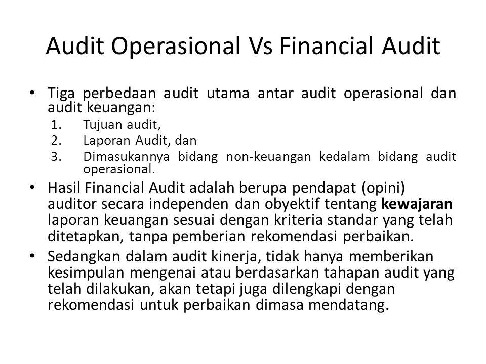 Audit Operasional Vs Financial Audit