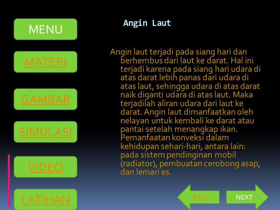 MENU MATERI GAMBAR SIMULASI VIDEO LATIHAN Angin Laut