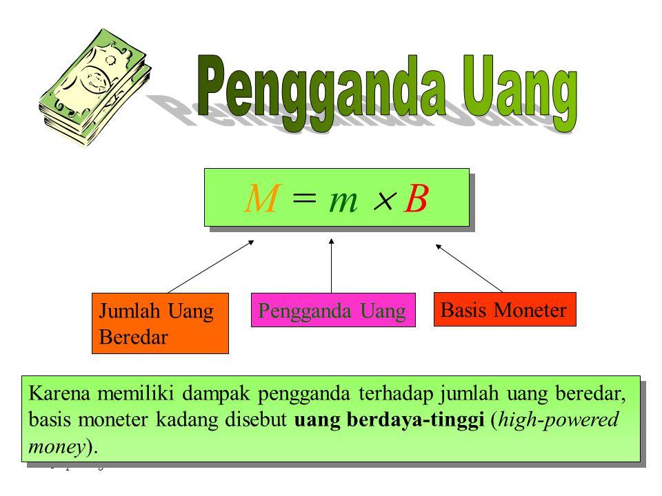 M = m  B Pengganda Uang Jumlah Uang Pengganda Uang Basis Moneter