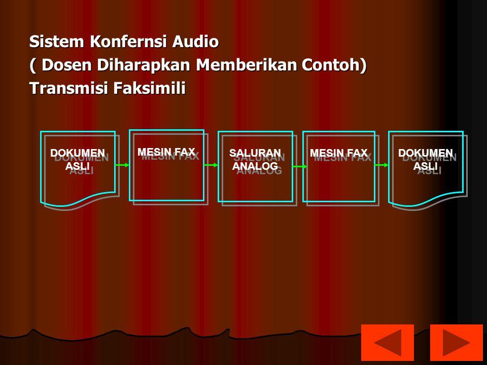 Sistem Konfernsi Audio ( Dosen Diharapkan Memberikan Contoh)