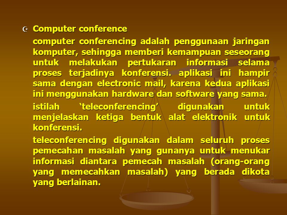 Computer conference
