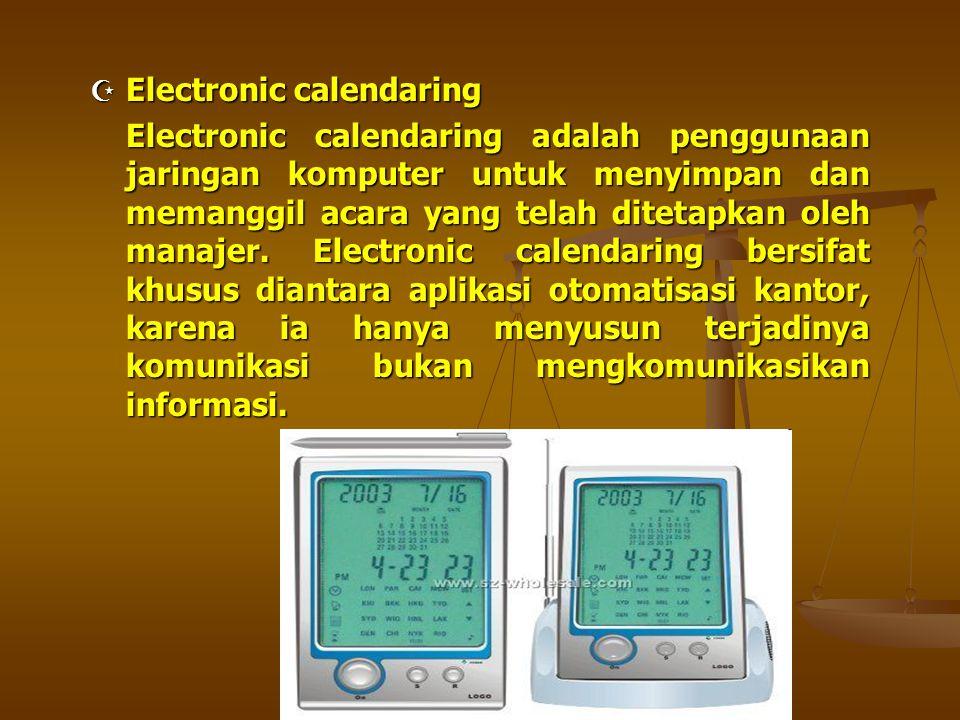 Electronic calendaring