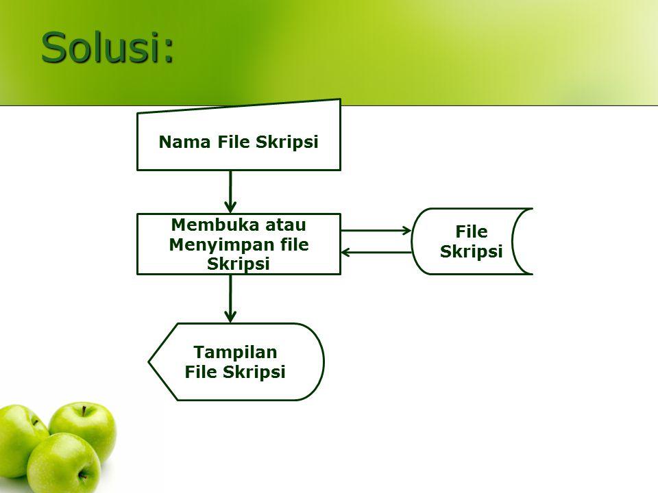 Membuka atau Menyimpan file Skripsi