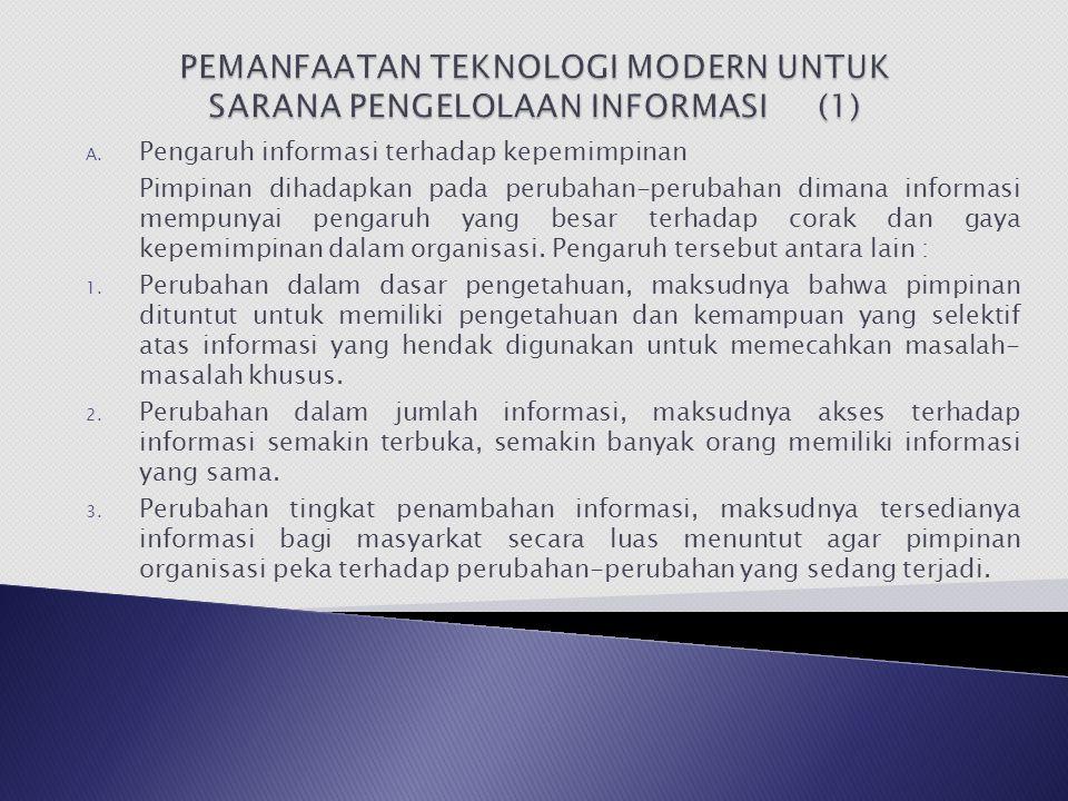PEMANFAATAN TEKNOLOGI MODERN UNTUK SARANA PENGELOLAAN INFORMASI (1)
