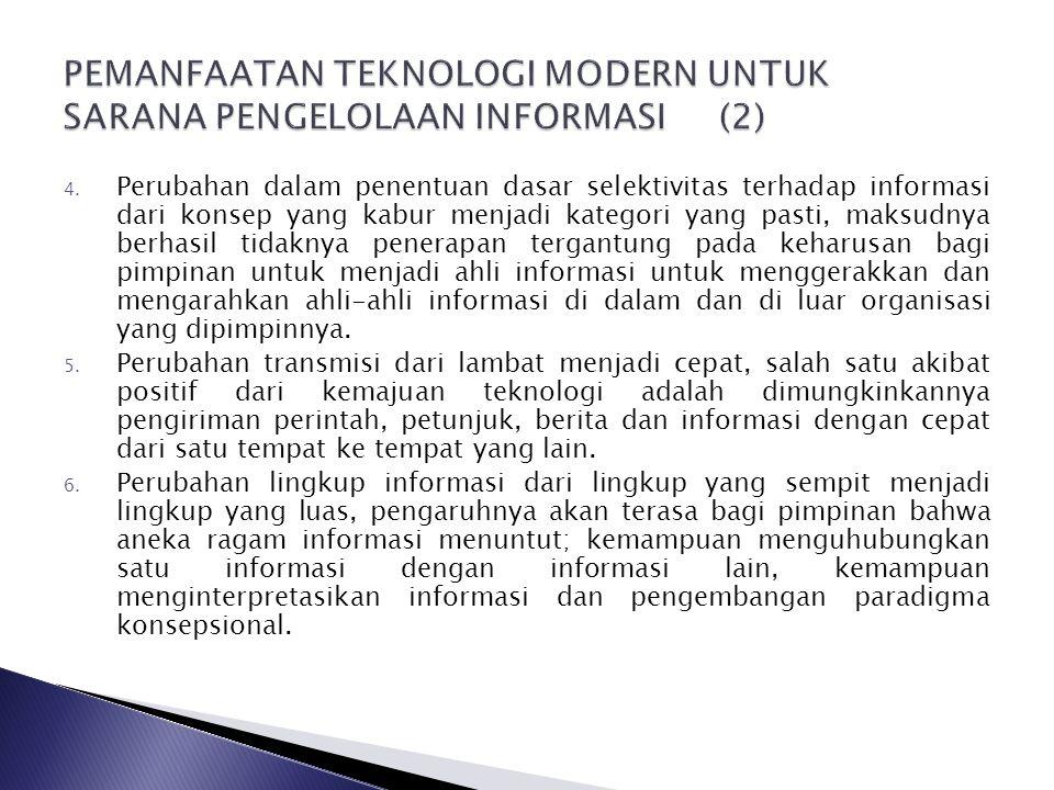 PEMANFAATAN TEKNOLOGI MODERN UNTUK SARANA PENGELOLAAN INFORMASI (2)