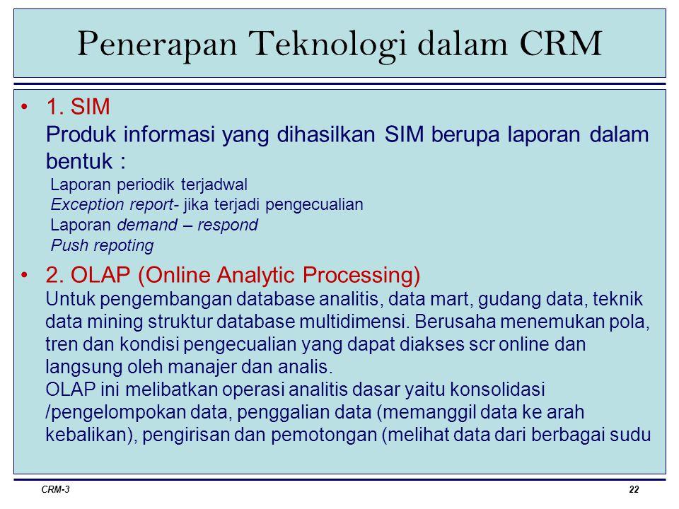 Penerapan Teknologi dalam CRM