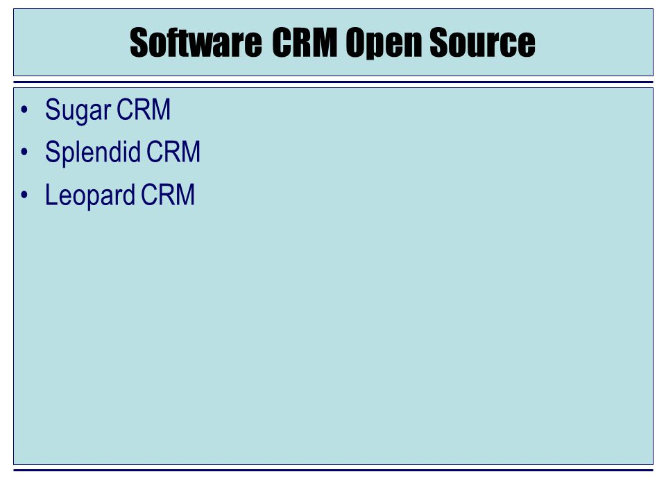 Software CRM Open Source