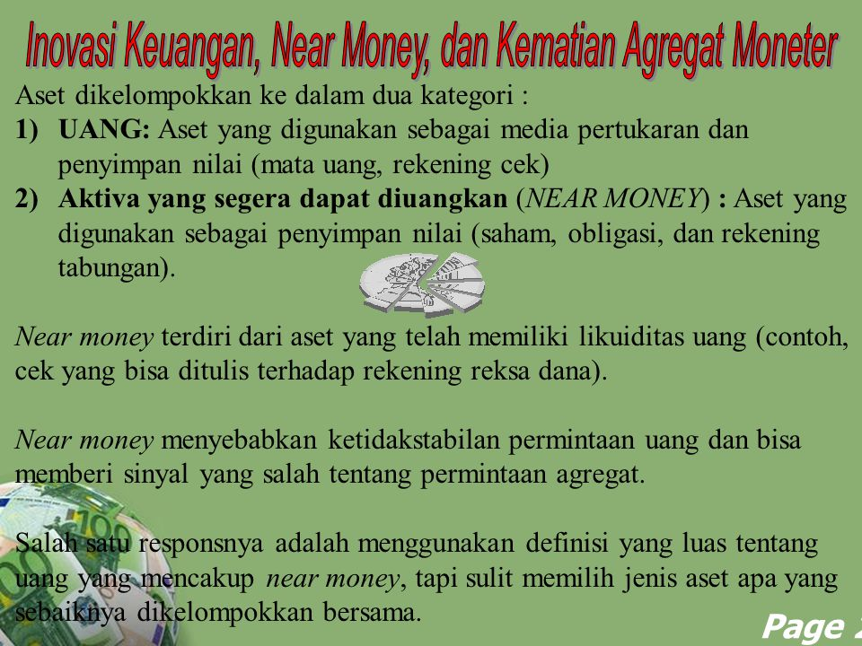 Inovasi Keuangan, Near Money, dan Kematian Agregat Moneter