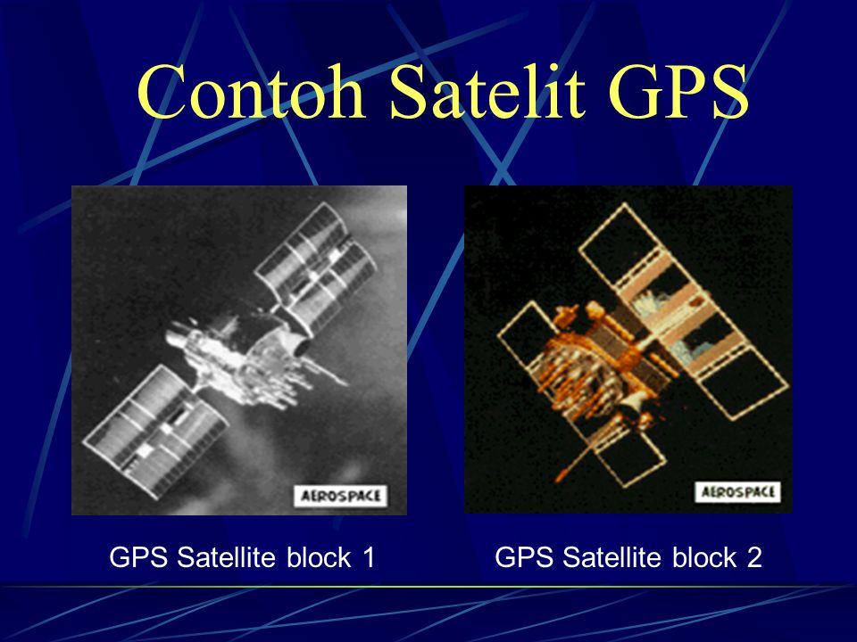 Contoh Satelit GPS GPS Satellite block 1 GPS Satellite block 2