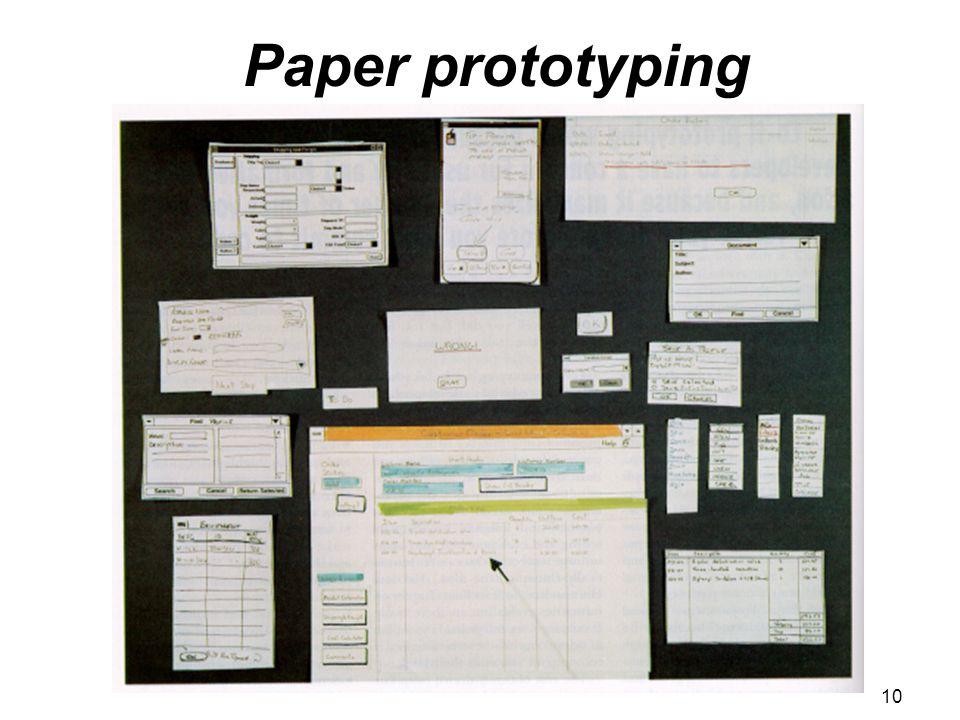 Paper prototyping 10