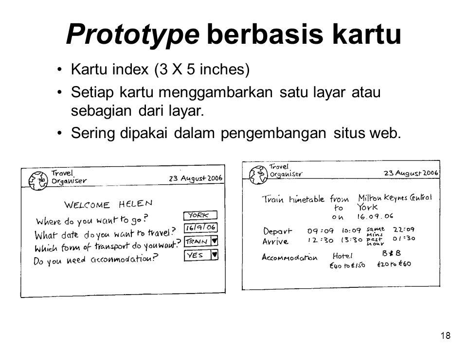 Prototype berbasis kartu