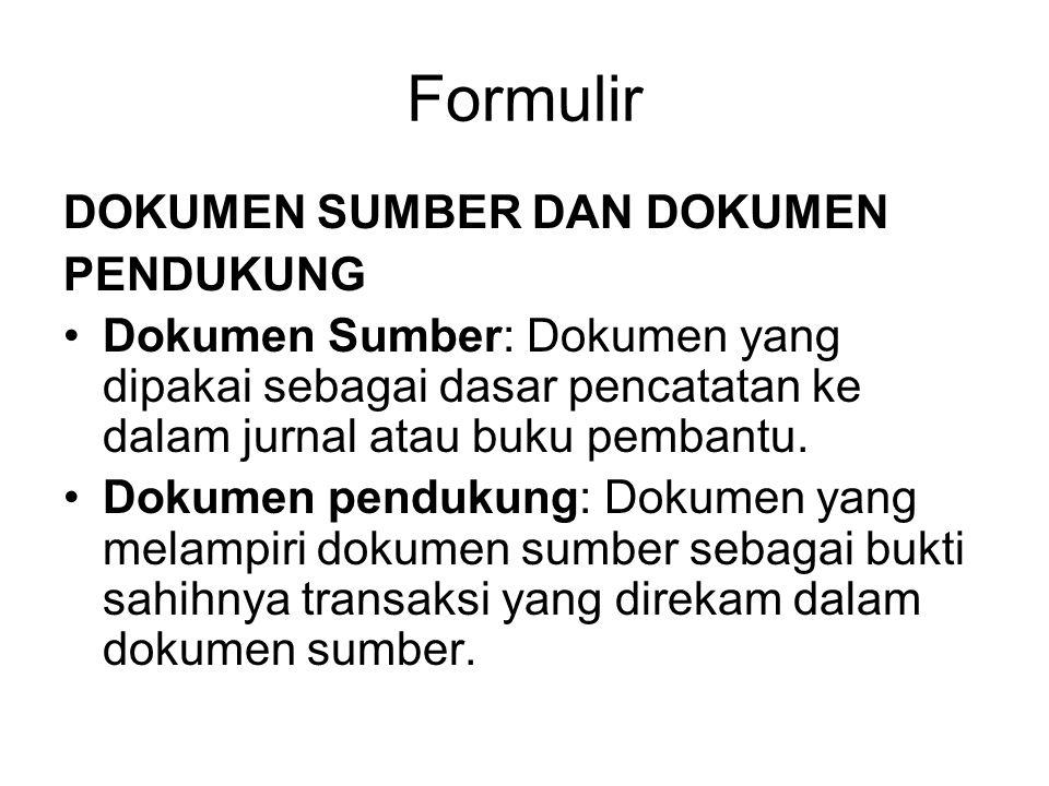 Formulir DOKUMEN SUMBER DAN DOKUMEN PENDUKUNG