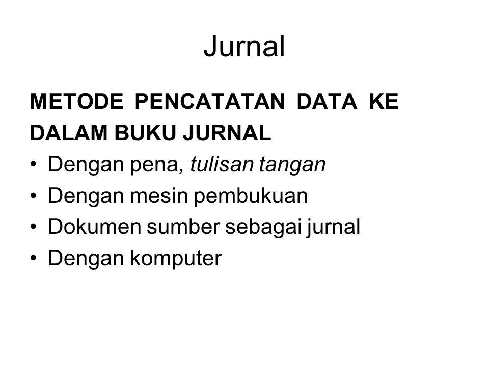 Jurnal METODE PENCATATAN DATA KE DALAM BUKU JURNAL
