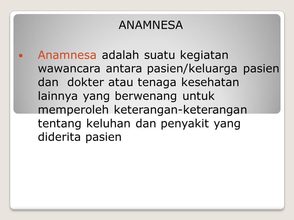 ANAMNESA