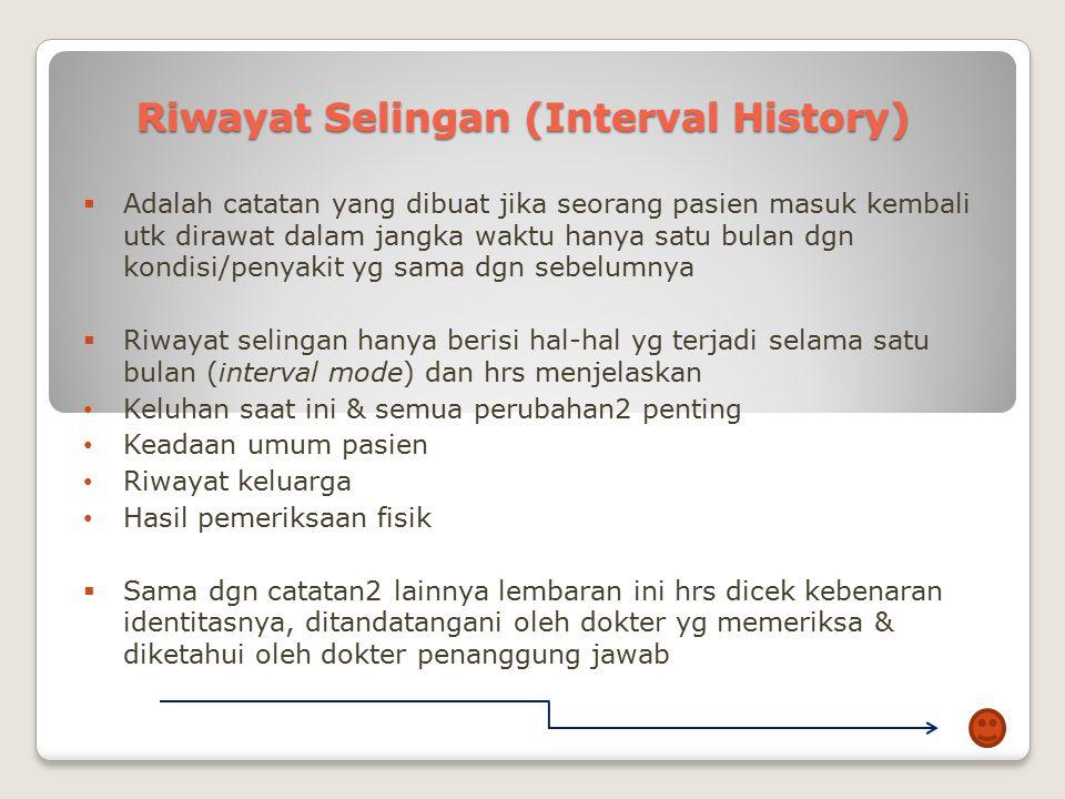 Riwayat Selingan (Interval History)
