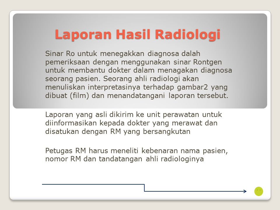 Laporan Hasil Radiologi