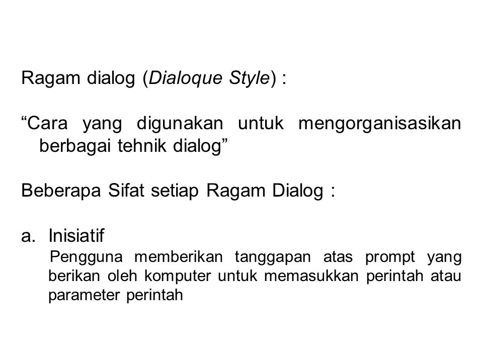 Ragam dialog (Dialoque Style) :