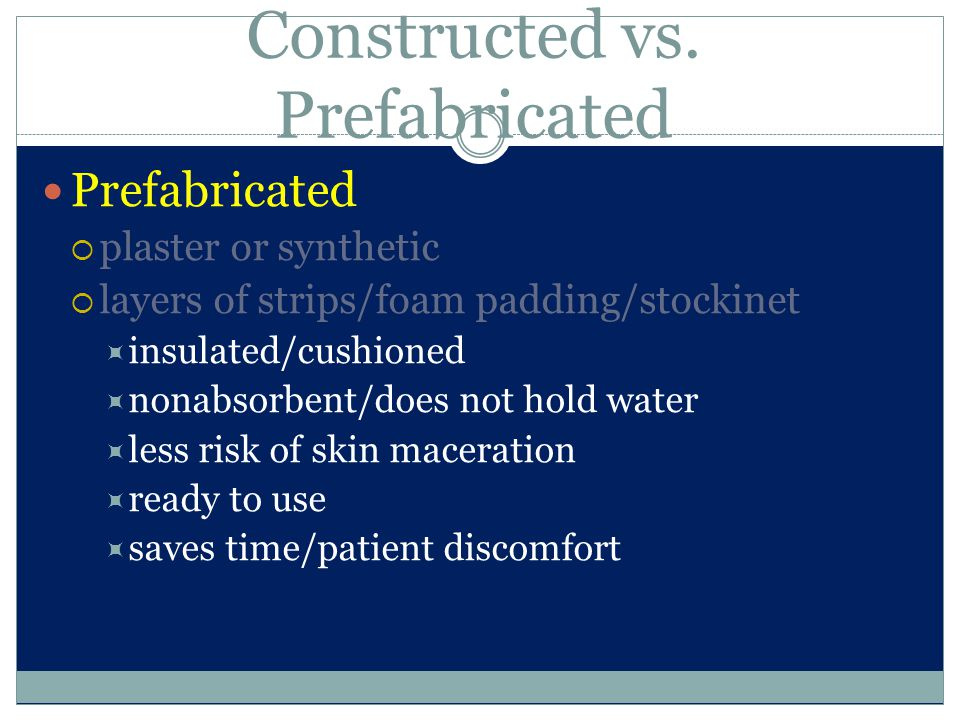 Constructed vs. Prefabricated