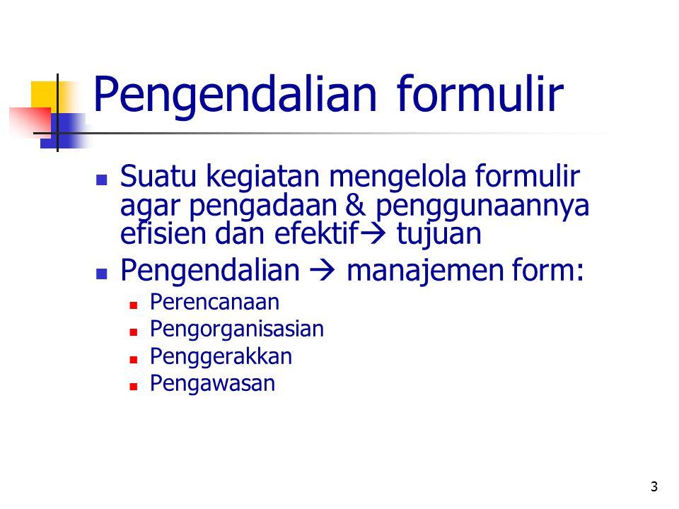 Pengendalian formulir