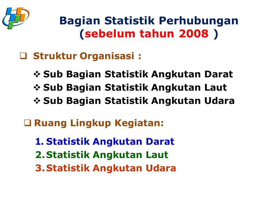 Bagian Statistik Perhubungan (sebelum tahun 2008 )