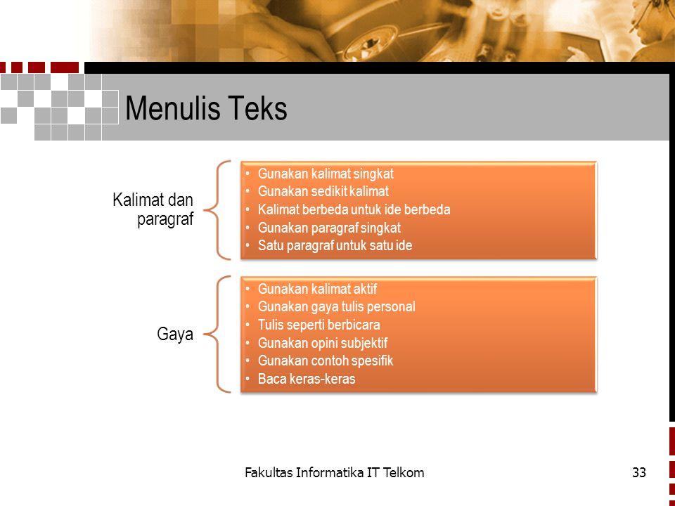 Fakultas Informatika IT Telkom